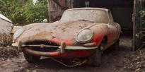 Unused Jaguar E-type found in a barn after 40 years expected to sell for $70k
