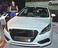 Hyundai Genesis and Sonata PHEV at 2016 Auto Expo
