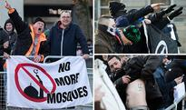 Neo-Nazi rabble pulling Hitler salutes branded 'un-British' as they protest mosque opening