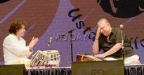 Candid shots of Zakir Hussain, Shujat Khan at musical extravaganza