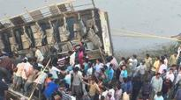 At least 36 dead as bus plunges into river in Gujarat