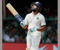 2nd Test: Rohit-Saha's stubborn resistance builds imposing lead, India 227/8 on day 3