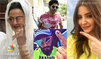 Varun, Anushka, Rekha, Ranveer cast their vote