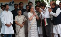 Sonia, Rahul Gandhi flag off three