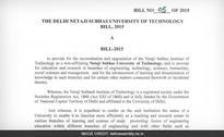 Delhi LG Returns Netaji Subhash Institute of Technology Bill