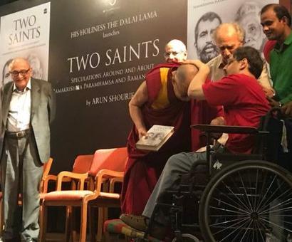 The Dalai Lama launches Shourie's book
