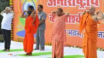 Yogi era in UP: Yoga session conducted in Raj Bhawan by Baba Ramdev