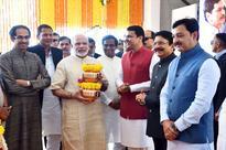PM Modi Lays Foundation for Shivaji Memorial, Uddhav Joins Him