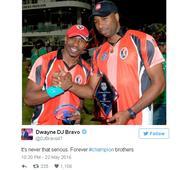 Dwayne Bravo and Kieron Pollard react after IPL controversy
