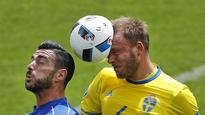 EURO 2016 Update: Sweden and Italy tied 0-0 at halftime