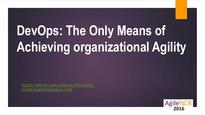 Dev ops the only means of org agility v1.1