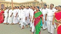 AIADMK MPs march in protest to PMO