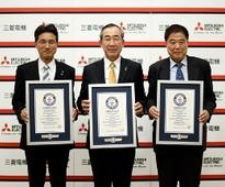 Mitsubishi Electric Receives Three Guinness World Records Titles for Tallest and Fastest Elevators