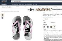Amazon again! Gandhi on slippers