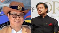 Shashi Tharoor has a stinging reply for literary critic Kiren Rijiju