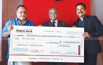MA Yusuff Ali donates Rs 1 cr to Mathrubhumi Ockhi Disaster Fund