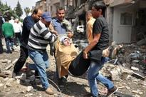 Bombs blast Turkish town on Syrian border, 46 dead