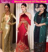 Deepika Padukone, Urvashi Rautela, Vidya Balan  meet the WORST dressed celebs of the week