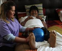 Evo Morales recovering from knee operation, but unable to walk on his own