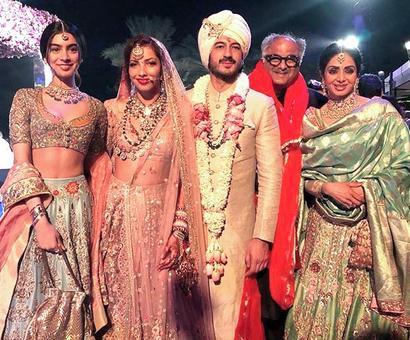 PIX: Sridevi looks gorgeous at Mohit Marwah's wedding!