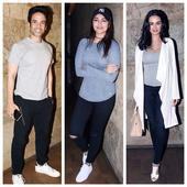 Tusshar, Sonakshi, Evelyn dress alike at Half Girlfriend screening!