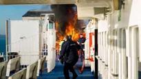 Fire breaks out on Solent Wightlink car ferry crossing