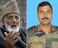 Syed Ali Shah Geelani praises militants who killed Colonel MN Rai