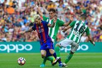 Suarez and Messi thump Betis