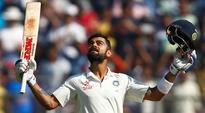 Watch Video: Virat Kohli celebrates after scoring double ton against England