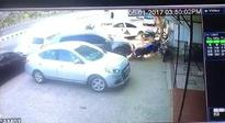 Car rams parked vehicles near Jalsa Party Plot