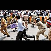 LBT protesters caned at Azad Maidan