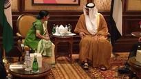 Sushma Swaraj meets Prince of Abu Dhabi; discusses IS threat, radicalism