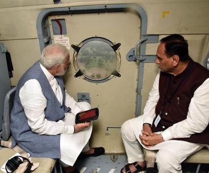Modi conducts aerial survey, takes stock of situation in flood-hit Gujarat