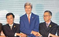 World The Latest: Kerry meets with his Southeast Asia counterparts