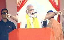 Modi tears into Mamata's 'Ma, Mati, Manush' mantra in Bengal rally