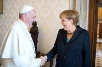 Pope receives German Chancellor Angela Merkel