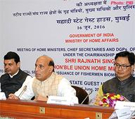 Union Home Minister Rajnath Singh chairs the meeting of Coastal States and UTs