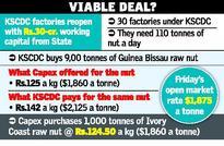 Political subtext to a cashew deal