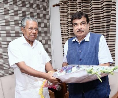 Pinarayi and Gadkari link up on development