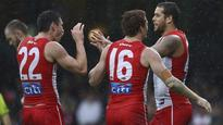 Sydney Swans too strong for Melbourne in the wet