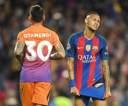 Champions League PIX: Messi treble grounds City; Arsenal thrash Ludo