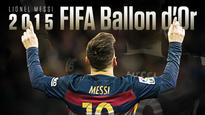 SPORTS |  Lionel Messi becomes the first player ever to win five Ballon dOr awards.