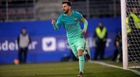 Lionel Messi scores fifth goal in six games as Barcelona beat Eibar