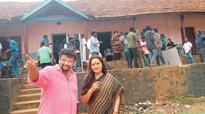Jayaprada, Revathy in Punalur for `Kinar' shooting