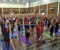 Art of Living yogathon draws 300 participants