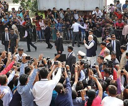 Shocking violation of rules, Chidambaram says of PM's post-vote walk