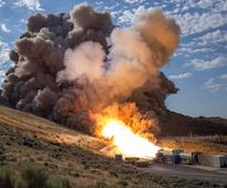 NASA fires world's biggest space rocket booster ahead of Mars exploration