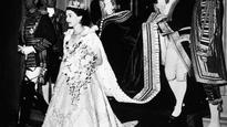 The coronation gown worn by Elizabeth II in 1953