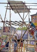Six watchtowers erected at marketplace in Erode