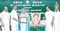 Veeramani bestowed with Thiruvalluvar award